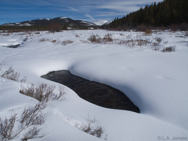 Snowshoeing along Tennessee Pass, near Leadville