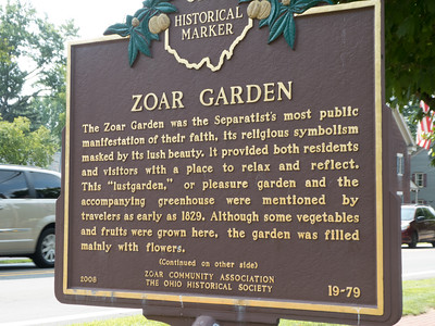 Zoar, Ohio, was established in 1817 by German Separatists.
