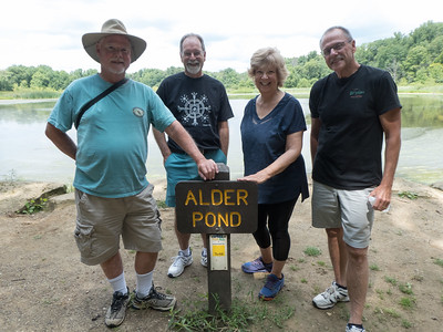 Paul Polk, Larry Jansen, Margie Susong, Dave Taylor at Goodyear Heights Metro Park