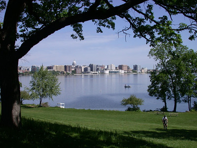 Madison skyline over Monona Lake