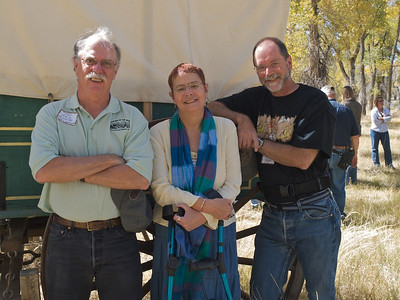 Alliance for Historical Wyoming members Tom Rea, Lesley Wischmann, and Larry Jansen
