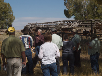 Clint Gilchrist, Sublette County Historical Society, describes the Bertram homestead.