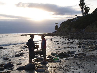 James and Lesley at Tourmaline Beach, La Jolla, CA, March 2009