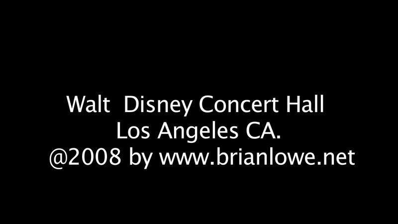 Walt Disney Concert Hall, Los Angeles CA.