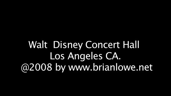 Walt Disney Concert Hall, Los Angeles CA.