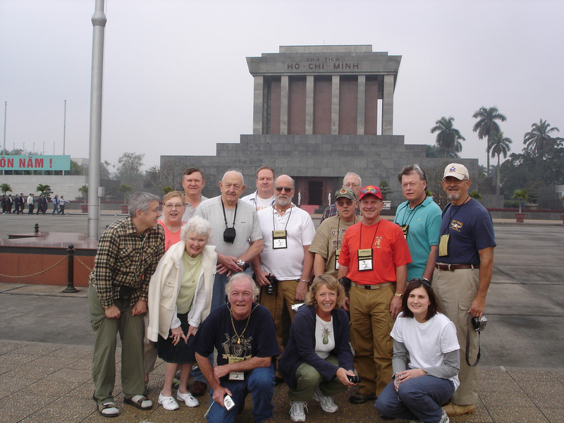 Photo op in front of the Ho Chi Minh Mausoleum. - Tour #VN08031