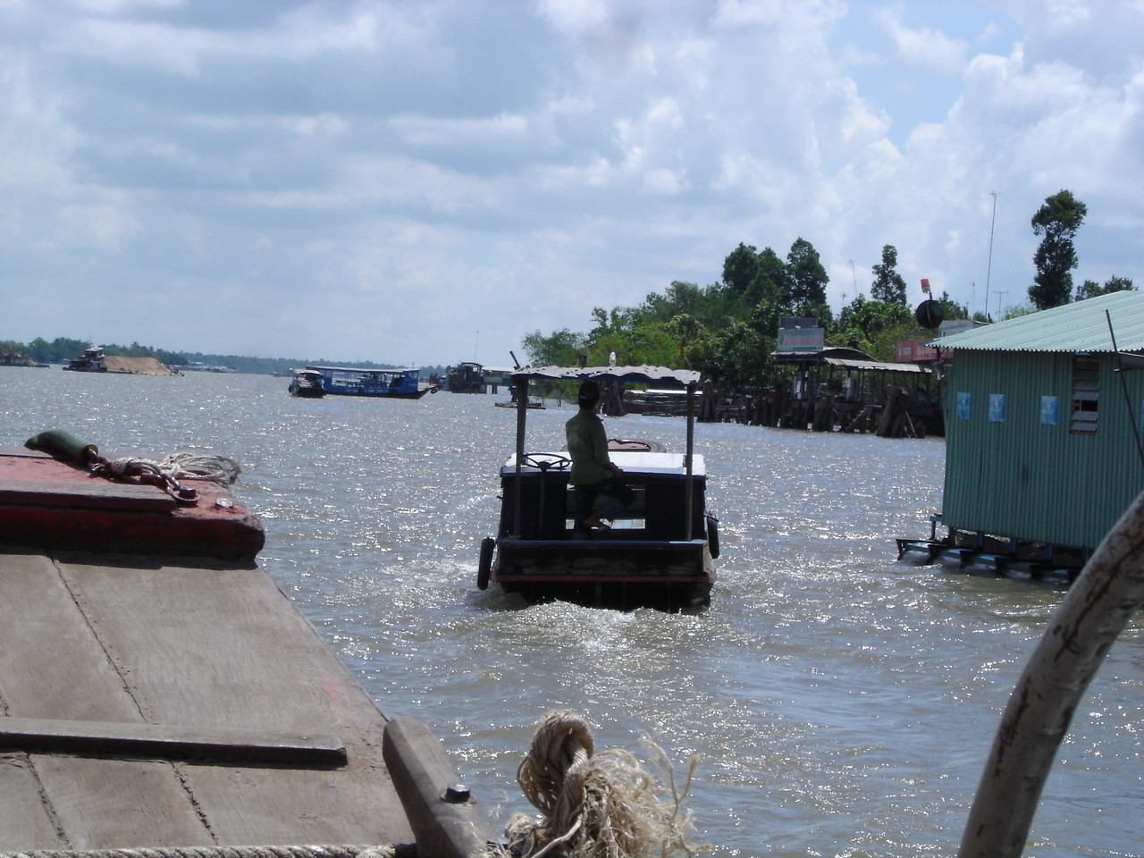 A boat trip down the Mekong River.