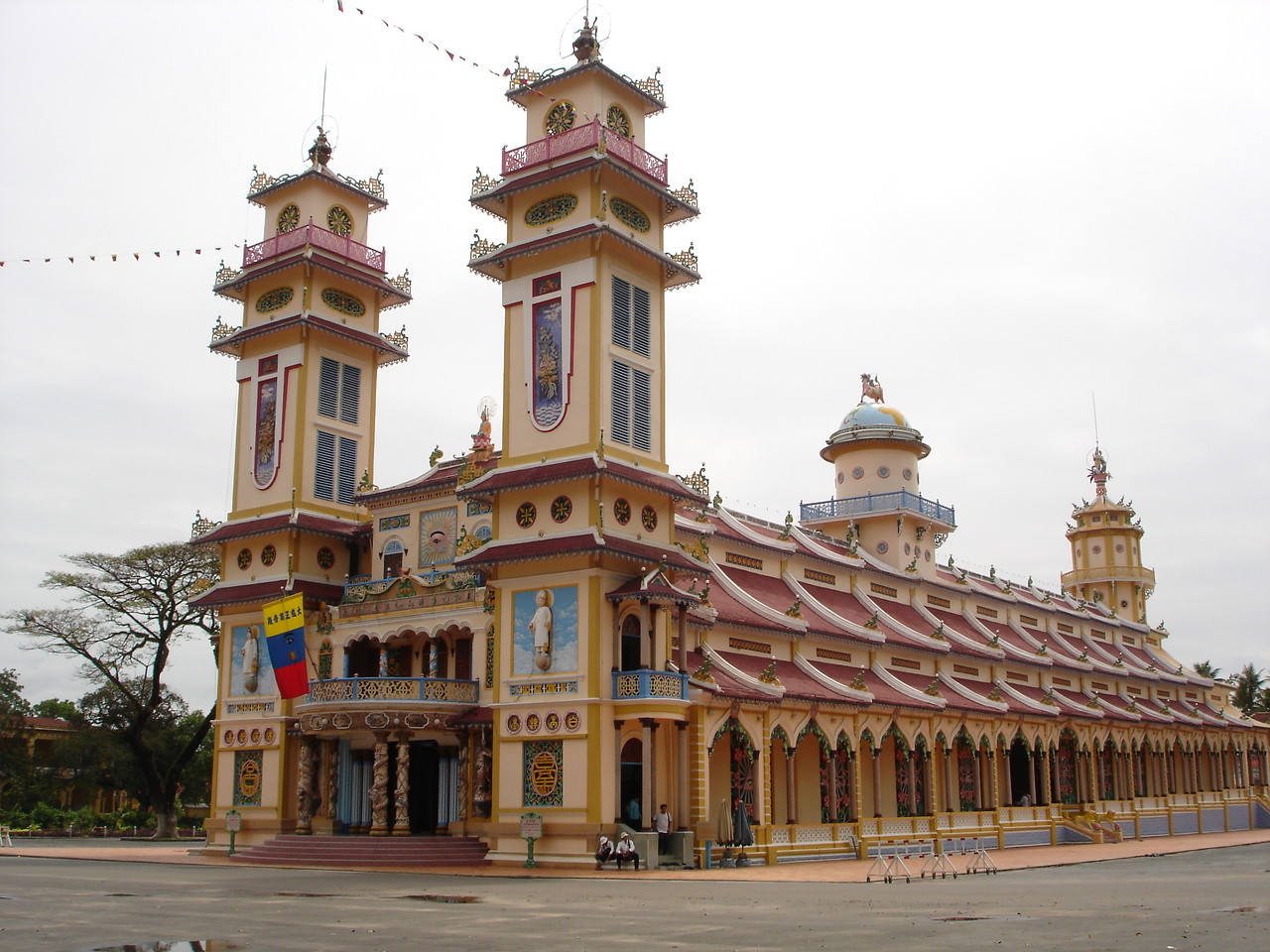 The Cao Dai Holy See Temple in Tay Ninh.