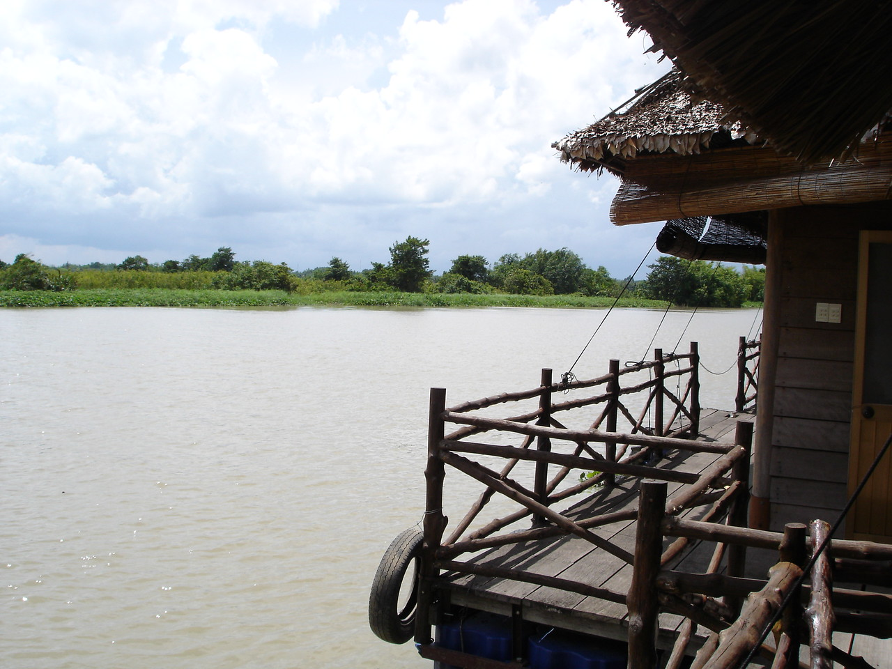 At a riverside resturant on the Saigon River near Cu Chi.