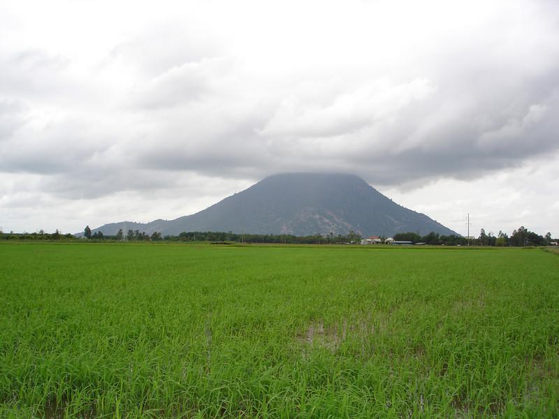 "Ba Den Mountain in Tay Ninh Province, aka ""Black Lady Mountain"", or ""Mountain of the Black Virgin""."