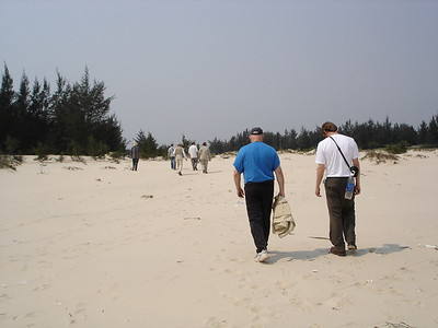 "Heading inland from the beach towards ""Oceanview"", a forward observation base north of Cua Viet. -  Tour #VN05031"