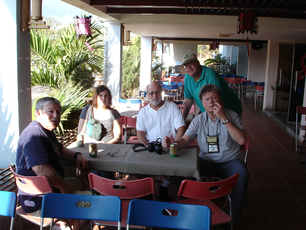 """Having a """"cold one"""" at the Hotel Sepon in Lao Bao next to the Laotian boarder.  - Tour #VN08031"""