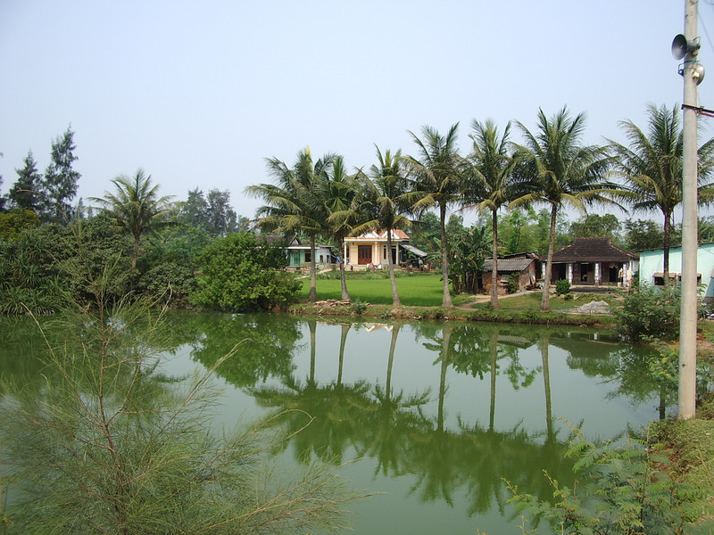 """The village of Dai Do along the north banks of the Song Bo Dieu (River).  This was the site of a major battle in the defense of Dong Ha, 1968.  Story told in the book """"The Magnificent Bastards"""" by Keith Nolan."""