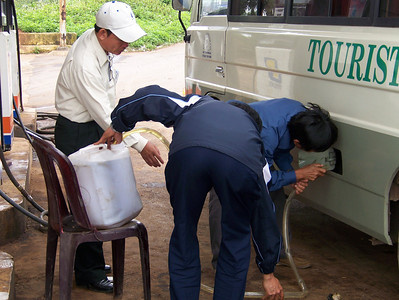 We were low on gasoline and so was the gas station.  - Tour #VN07031