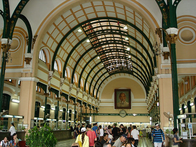 Inside of the Saigon Post Office.