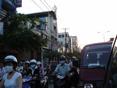 Traffic in Saigon.