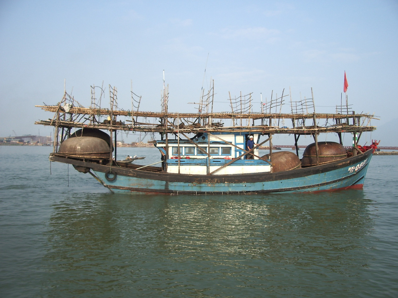 Fishing boat on the Han River in Da Nang.