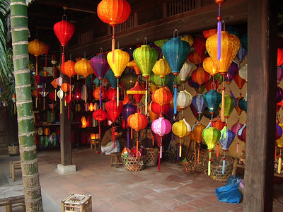 Lamp shop in Hoi An.