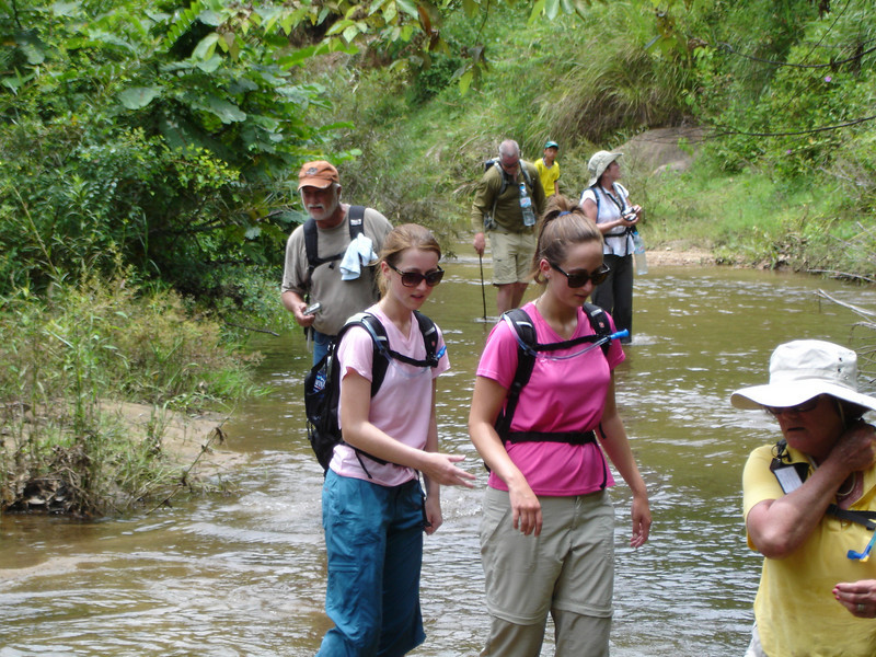 We crossed this stream about 10 times.  - Tour #VN09081