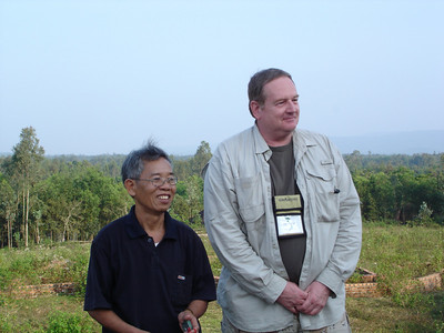 Clif C. and a former VC spend some peaceful time together at LZ Ross.  - Tour #VN08031