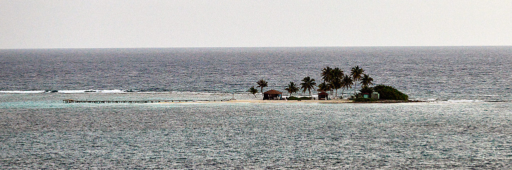 Island off Belize close up