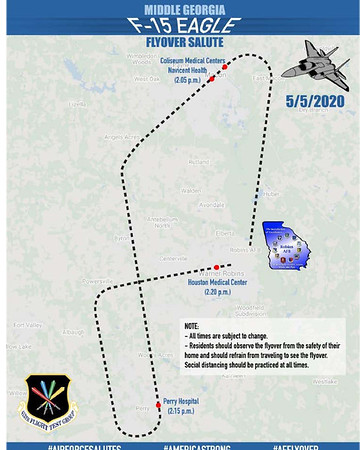 Map of Flight Path from WMAZ TV