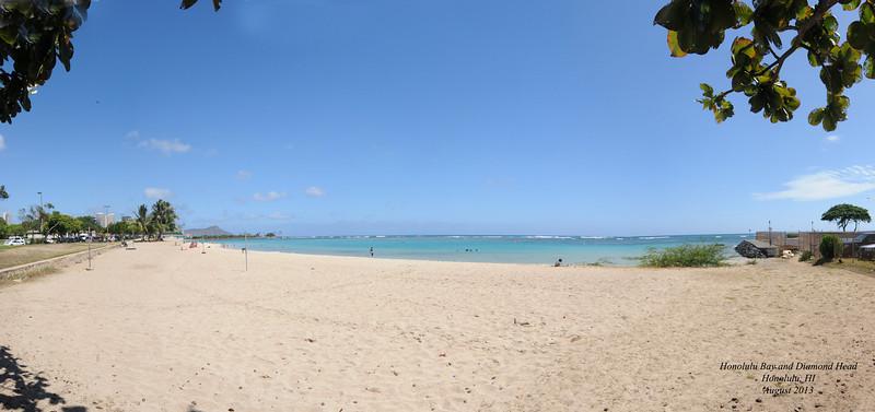 Honolulu Bay and Diamond Head