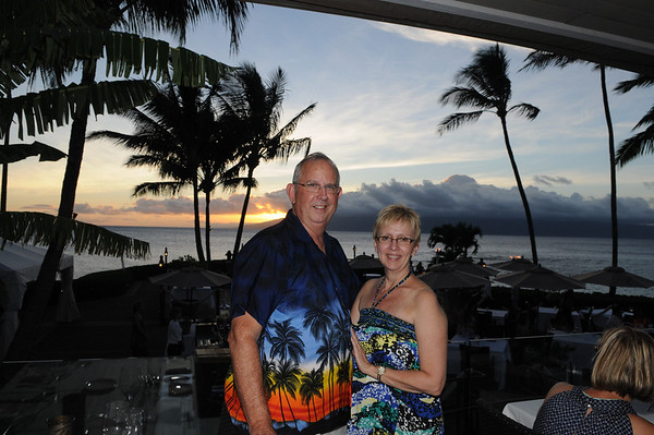 First Sunset at Merriman's Restaurant, Lahaina, Maui, HI