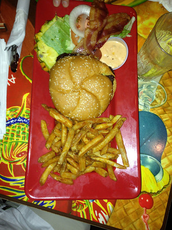 Hamburger at Cheeseburger in Paradise, Lahaina, Maui, HI