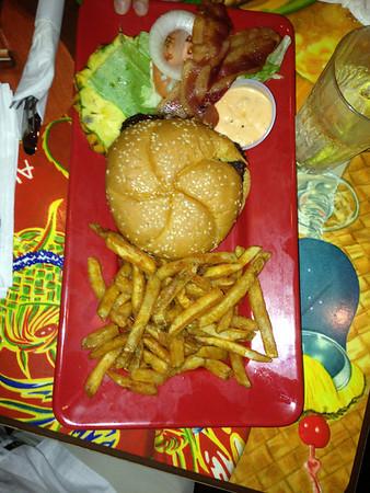 Hamburger at Cheeseburger in Paradise, Lahaina, Maui, HI