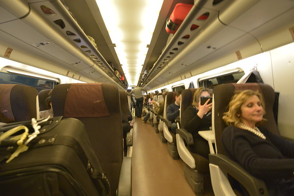 !st Class seats on Fast Train from Rome to Salerno, Italy
