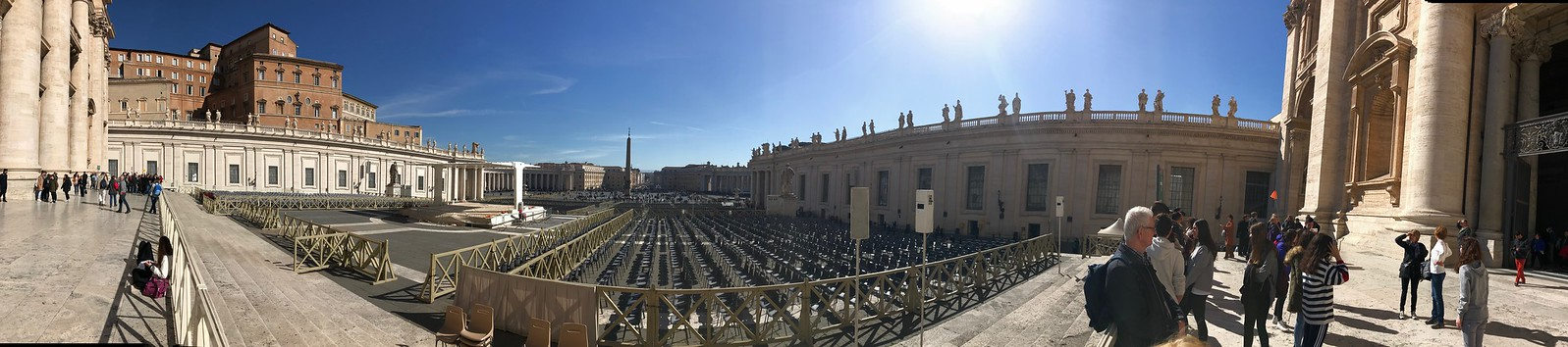 Panoramic Photo of St Peter's Square, Rome, Italy