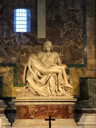 Michelangelo's Piata in St Peter's Basillica Rome Italy