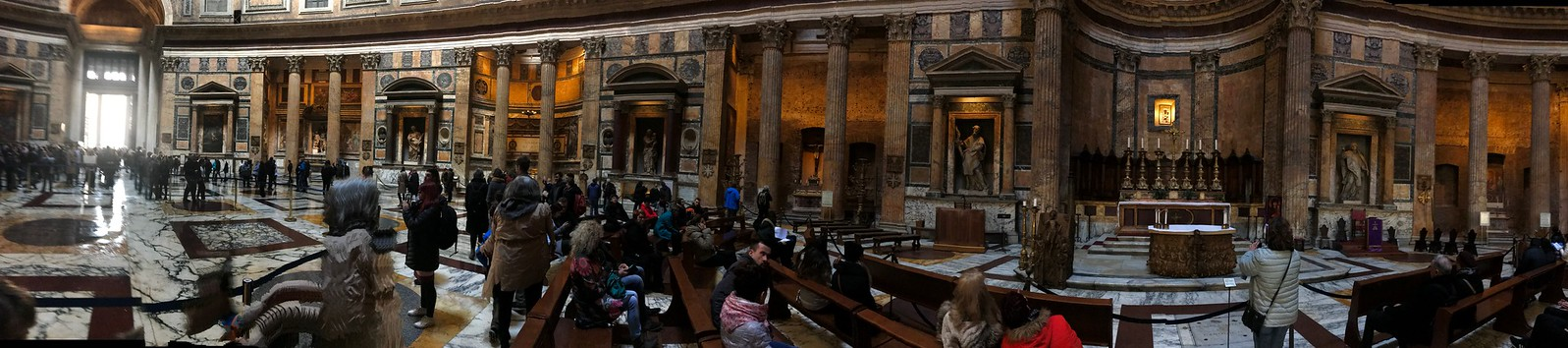 Panoramic Photo of floor of Pantheon