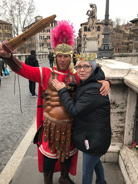 In front of Castel Sant Angelo, Rome Italy