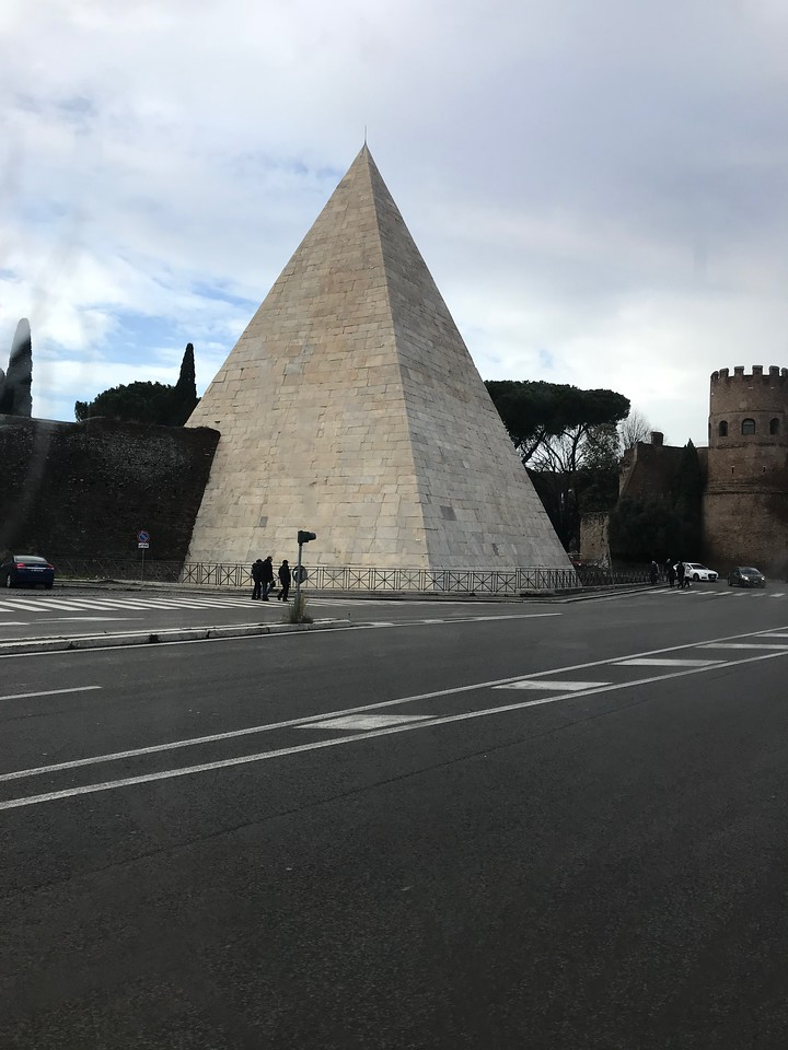 Pyramid of Cestius is an ancient pyramid in Rome