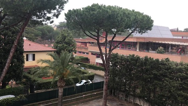 Looking out of Balcony from our room 408 at Crowne Plaza Roma