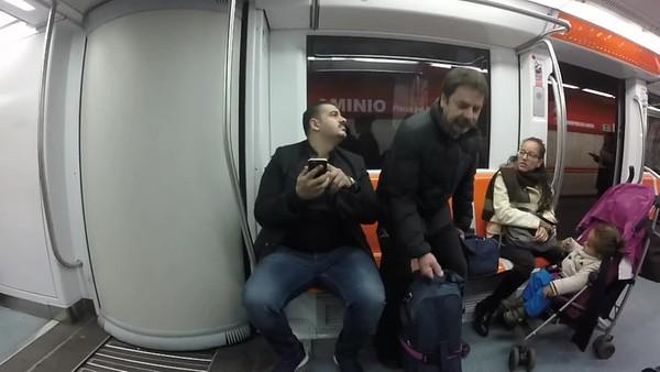 First Subway ride to Piazza de Popolo