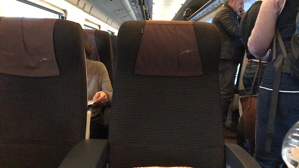First Class Seats on Fast Train