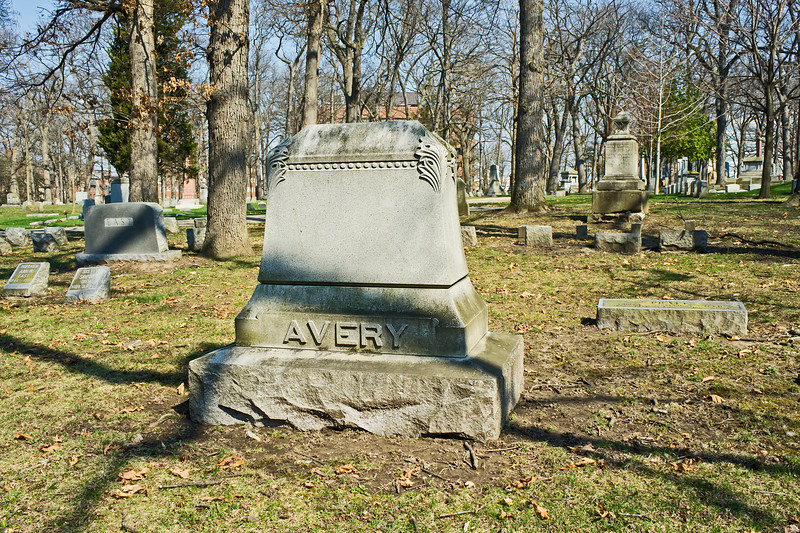 FHAA Avery 01<br /> <br /> Forest Hill Cemetery, Ann Arbor, Michigan<br /> March 21, 2012