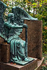 D288-2013  'Angel of Death Victorious' by Herman Matzen, ca. 1923<br /> Graveside Haserot family monument<br /> <br /> Lake View Cemetery, Cleveland, Ohio<br /> October 15, 2013