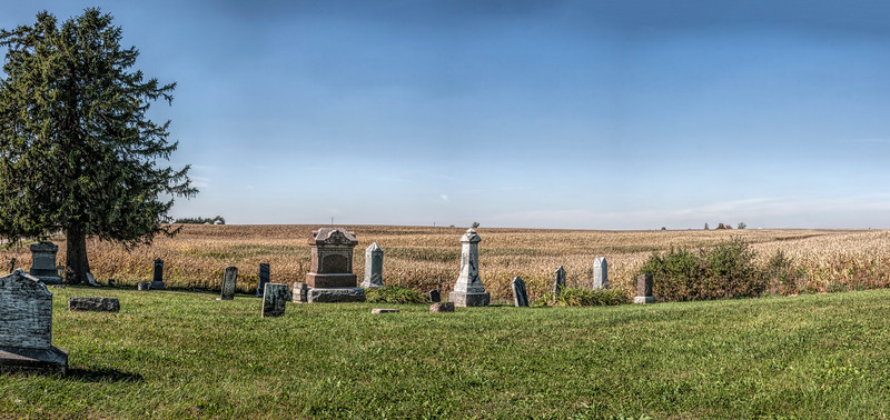 Panorama; Tyrone Cemetery, Washington County, Iowa