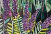 Title:   Prairies - Great Lakes Ecosystem Mural, #6 of 8, Detail<br /> Artist:  Yulia Hanansen     Created 2009<br /> Location:  Conservatory, Matthaei Botanical Gardens, Ann Arbor, Michigan