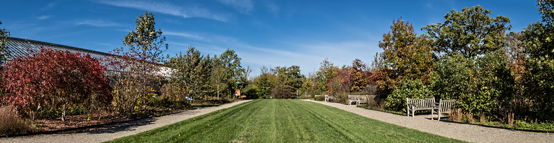 Panorama of the area east of the conservatory building