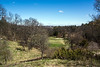 D116-2014  Huron River valley from near the top (Geddes Avenue) of the arboretum<br /> <br /> Nichols Arboretum, Ann Arbor<br /> April 26, 2014