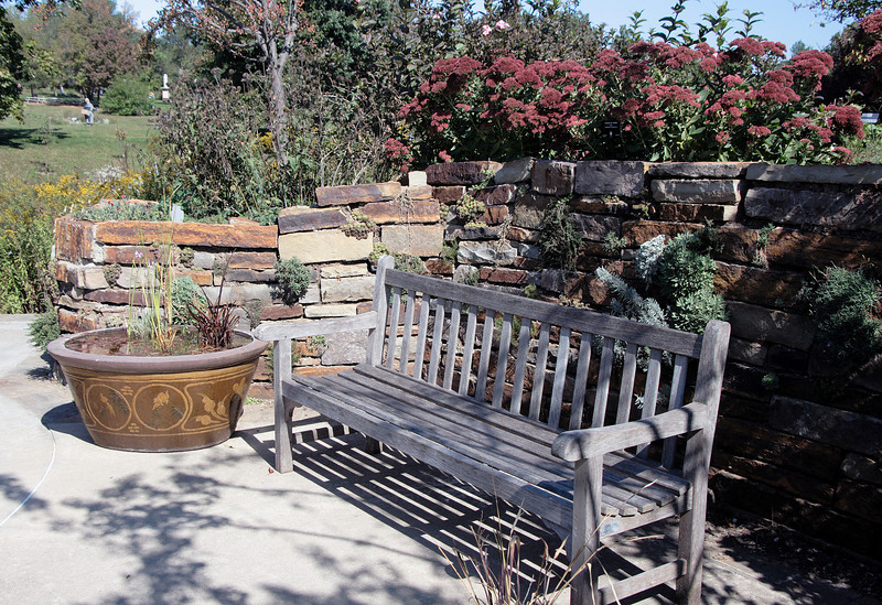 Bench alcove at Powell Gardens, Missouri