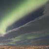 Northern lights dance above us, Hotel Laxa, Lake Myvatn, Iceland