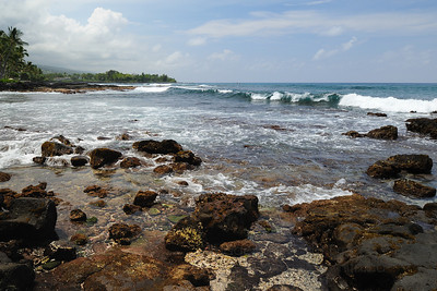 Beautiful Hawaii Kona Coast shore