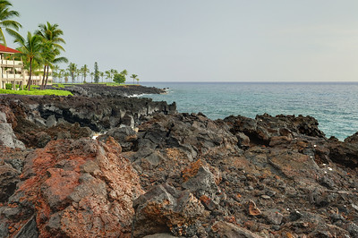 Pacific Ocean view from the Kona Surf and Racquet Club, Hawaii