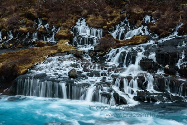 68 Hraunfossar Waterfalls